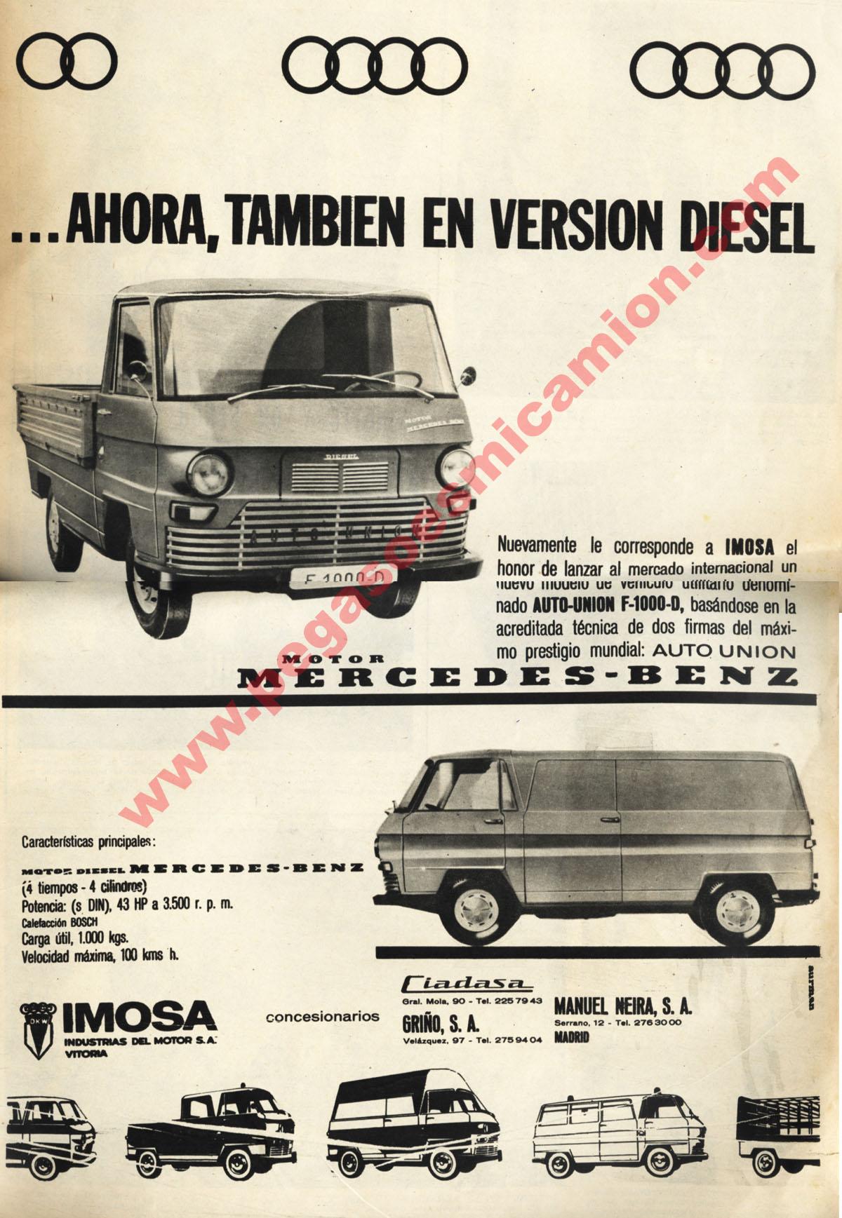 Autouni n dkw f 1000 l de 1964 for Garage auto l union