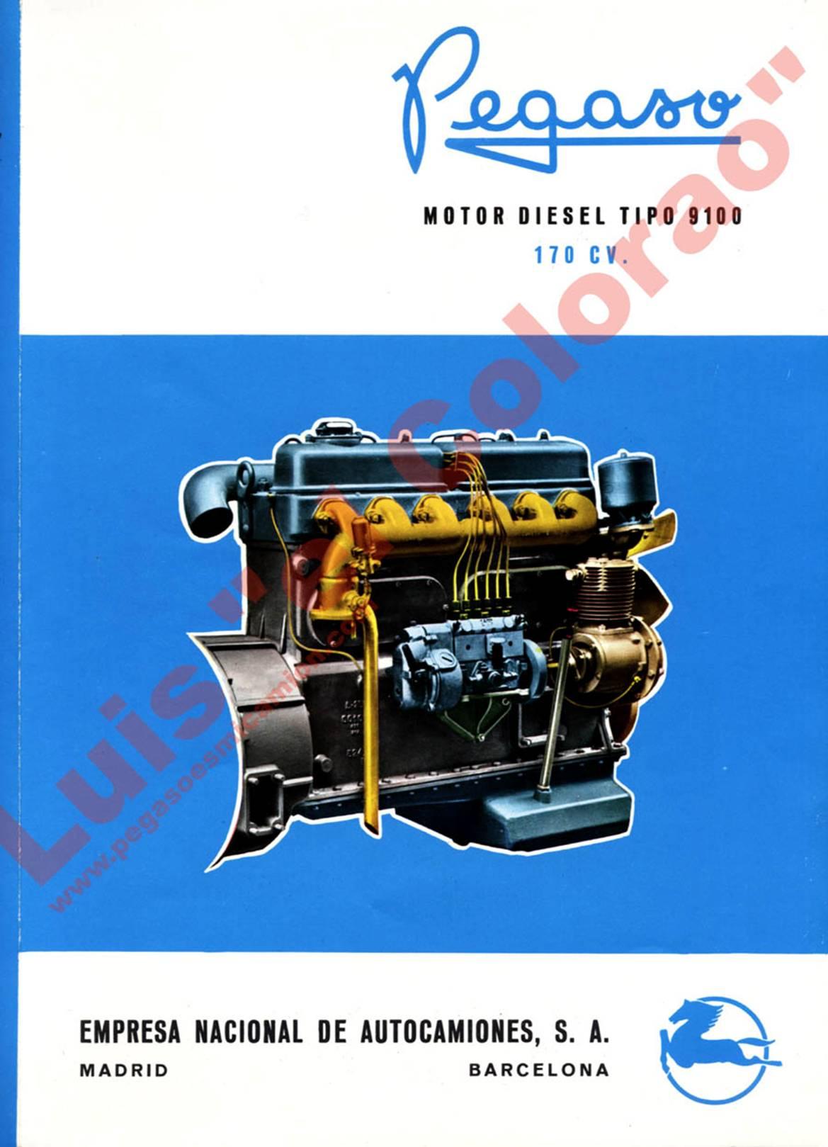 pegaso motor diesel 9100